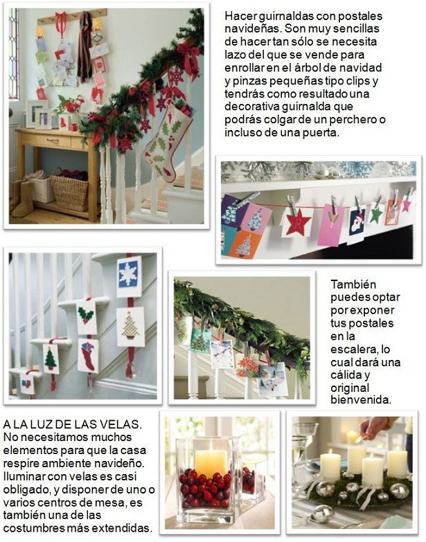 Ideas para decorar la casa en navidad for Decorar casa ideas
