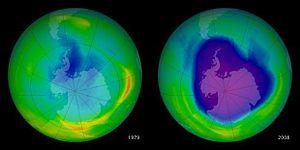 El agujero de la capa de ozono en su nivel más bajo en cinco años