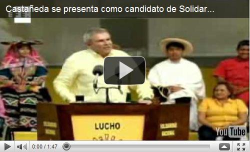 El ex alcalde de Lima se presenta como candidato de Solidaridad Nacional