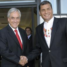 Piñera y Correa en la Antártida