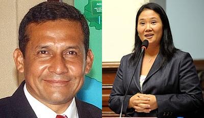 Debate entre Humala y Fujimori
