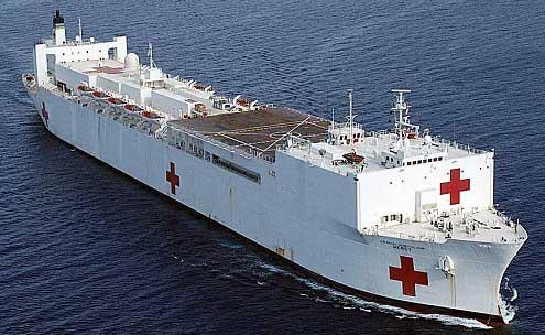 Llega barco hospitalario a Ecuador
