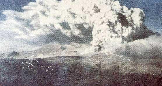 Chile: volcán en erupción