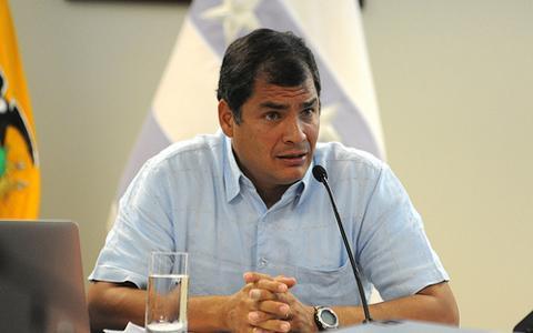 Correa hablará sobre la sublevación
