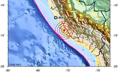 Temblor de 6,3 en perú