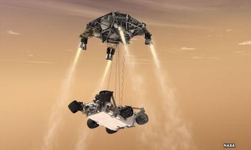 Taladrando la superficie de Marte