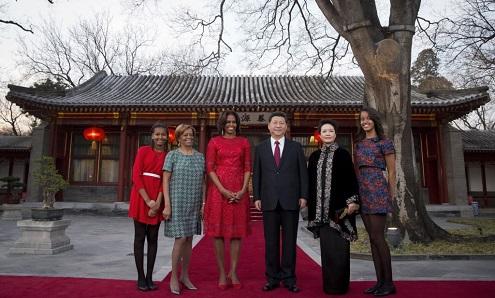 Michelle Obama inicia visita a China