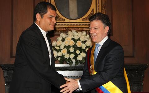 Correa visita Colombia