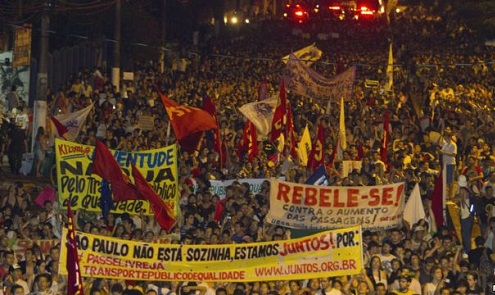 Brasil grita de inconformismo